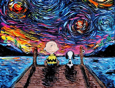 Painting K by Pop Culture Icons Invade Gogh S Starry
