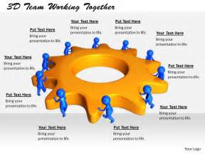 1813 3d team working together ppt graphics icons powerpoint