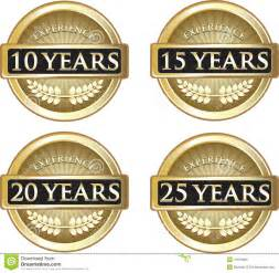 years of experience stock vector image 47876209