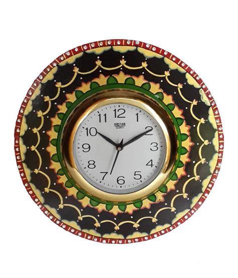 Handcrafted Clocks - divinecrafts multicolor handcrafted wall clock buy