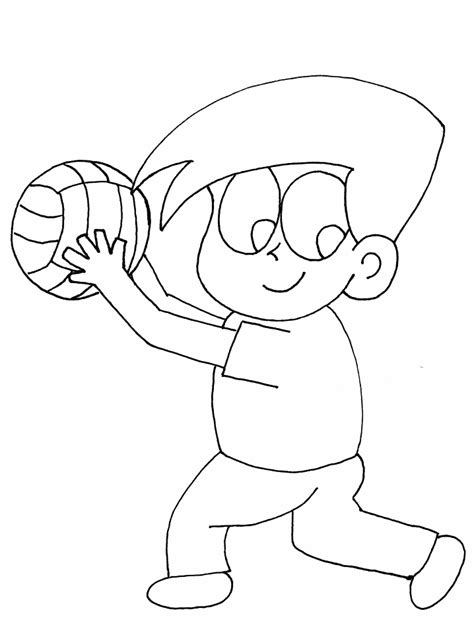 cartoon volleyball coloring page cartoon volleyball pictures az coloring pages