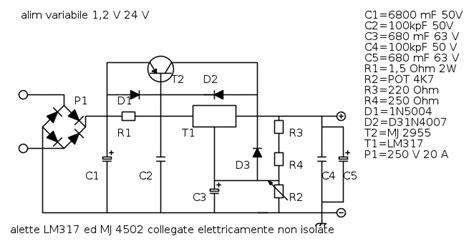 calcolo potenza alimentatore alimentatore variabile 3 v 24v 10a il forum di electroyou