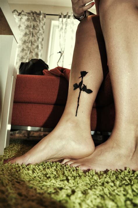 violator rose tattoo legs tattoologist