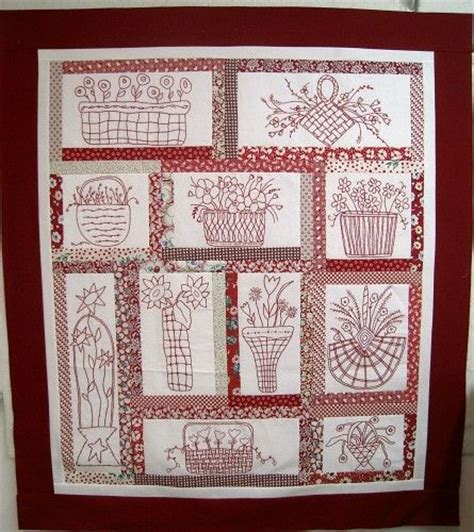 Quilts With Embroidered Blocks by Embroidered Quilt Blocks Work