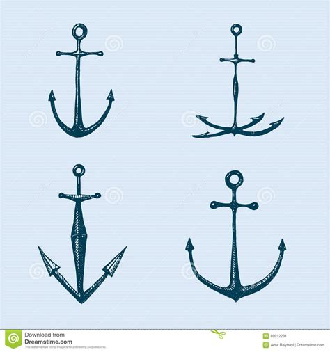 how to create a classic tattoo style vector illustration anchor engraved vintage in or style