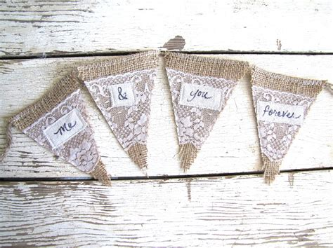 Lace Wedding Banner by Burlap Lace Wedding Sign Penant Banner Onewed