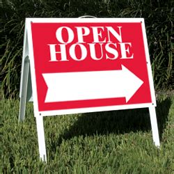 open house real estate signs 18 quot x 24 quot stock open house tent sign independent real estate signs