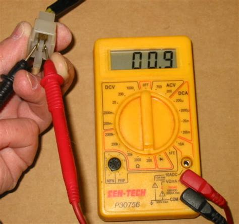 how to measure resistance multimeter motorcycle electrical troubleshooting