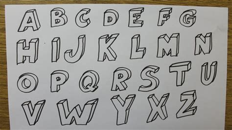 comment dessiner des lettres en 3d