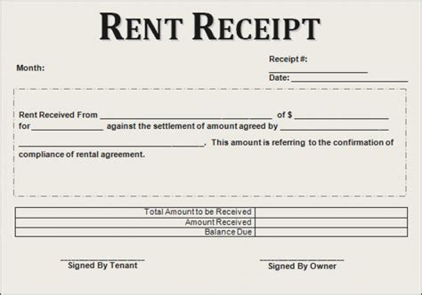 rent receipt template uk house rent allowance document template hardhost info