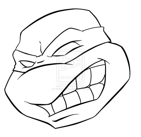 ninja turtles face coloring page tmnt 2k3 style raphael by theblindalley on deviantart
