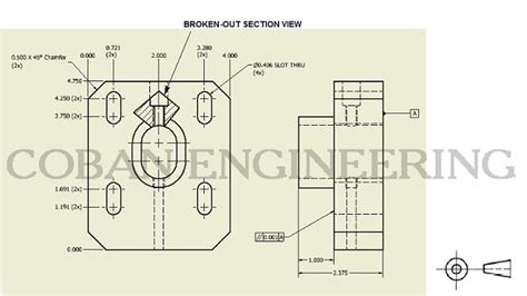 broken out section view technical drawings views detail view broken out section