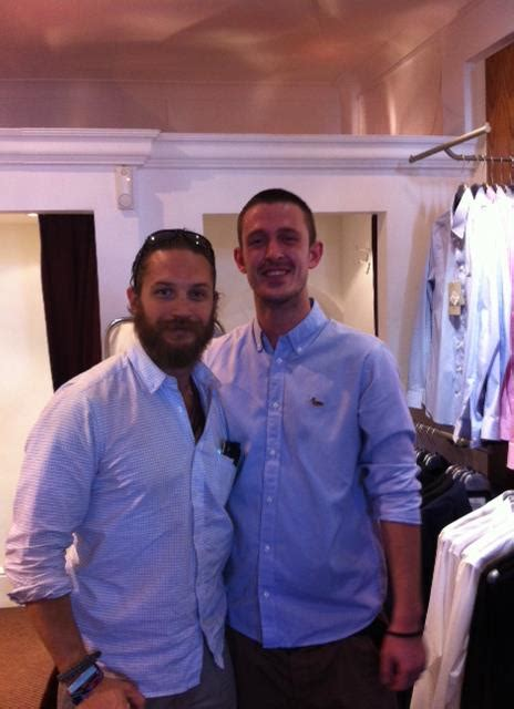 house of designer wear tom hardy at the house designer wear in the north of england 26th may 2012 tom