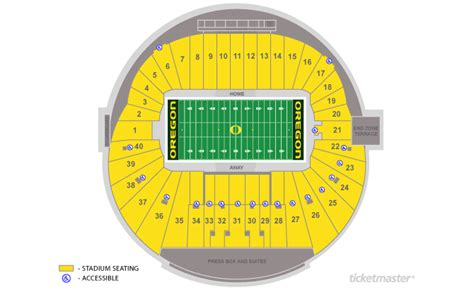 autzen stadium seating autzen stadium seating chart with rows and seat numbers