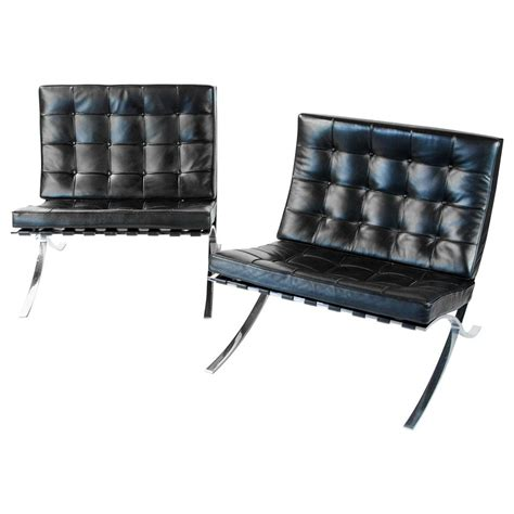 knoll furniture barcelona vintage knoll barcelona chair by mies der rohe at 1stdibs