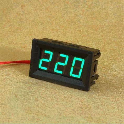 Volmeter Digital Ac 0 500v Original 10pcs Lot Blue Green 0 56 Inch Ac70 500v Digital