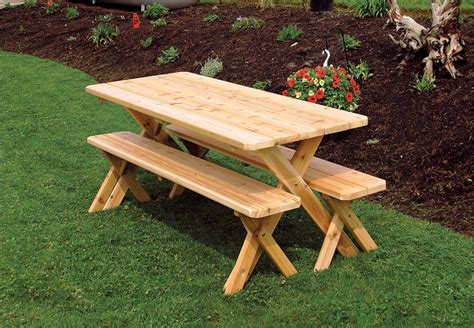 cedar picnic table amish furniture outddor garden furniture