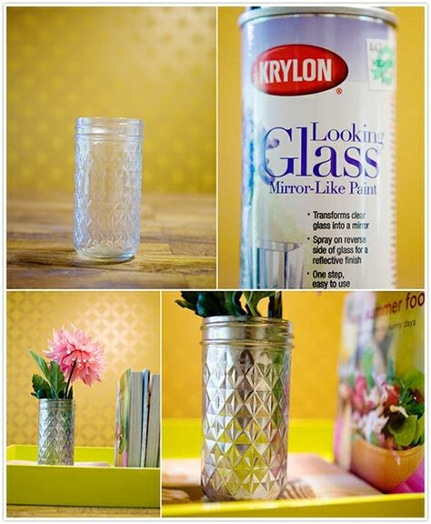 How To Spray Paint Glass Vases by Reving A Vase With Krylon Looking Glass Paint