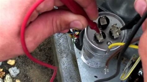 how to check a ac capacitor with a multimeter air conditioner check up air conditioning repair ac repair gilbert az