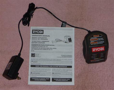 ryobi 18v battery charger manual ryobi one p116 18v intelliport charger new free ship ebay