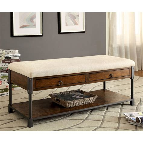 Oak Storage Bench Venetian Worldwide Finlay Light Oak Storage Bench Vene Cm Bn6259 The Home Depot