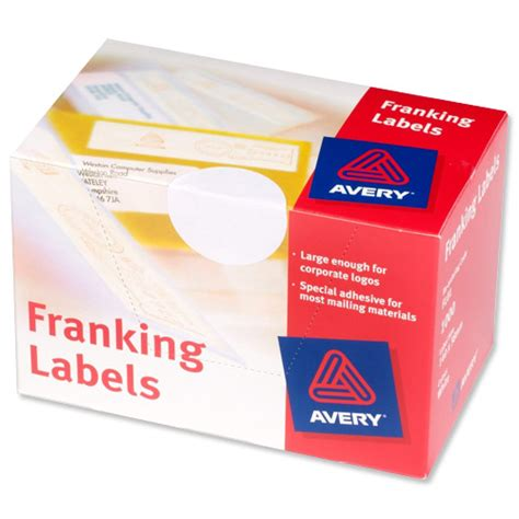 Avery Office Supplies by Avery Franking Labels 2 Per Sheet 140x38mm White Ref Fl01