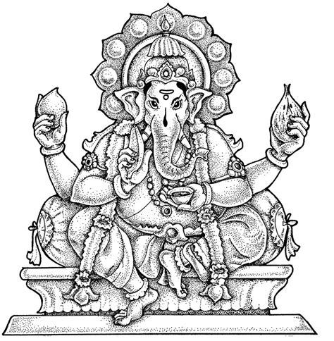 ganesh chaturthi colors coloring pages