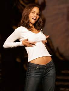 Halle berry gestures while being honored as harvard s hasty pudding