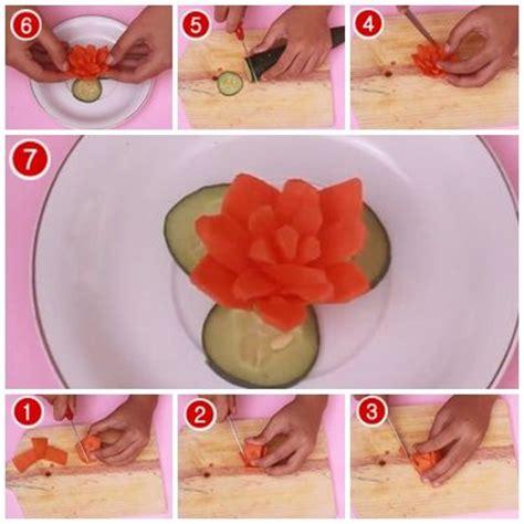 langkah langkah membuat hiasan natal cara membuat garnish bunga dari wortel aneka garnish