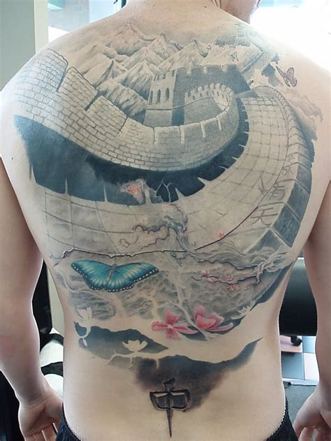 china pattern tattoo black ink great wall of china tattoo design for sleeve by
