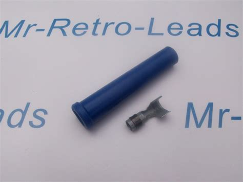 blue silicone ignition lead spark plug boot terminal
