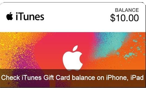 Itunes Check Gift Card Balance - how to check itunes gift card balance on iphone ipad