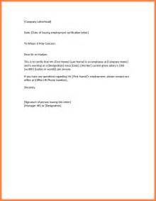 Proof Of Employment Letter Format 3 Salary Verification Letter Sle Salary Slip