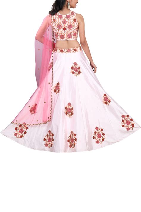 M6 Blouse Almita Top powder pink lehenga