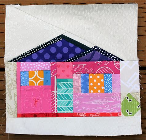 House Quilt Block by Paper Piecing On Paper Pieced Quilts