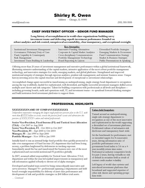 Exle Of An Executive Resume by Award Winning Executive Resume Exles