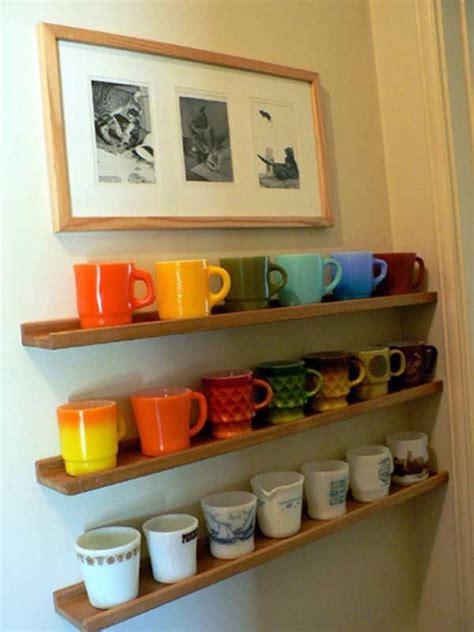 cabinet mug rack 25 best ideas about coffee mug storage on