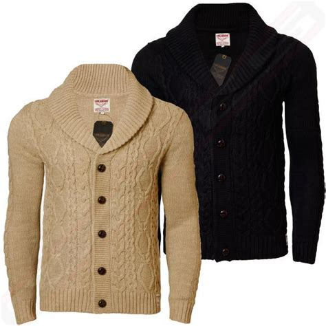 mens chunky knit cardigan mens cardigan chunky cable knit threadbare ims 042 shawl