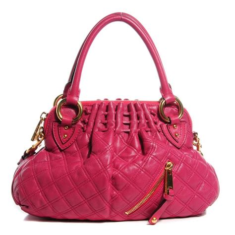 Marc Bonnie Quilted Leather Handbag by Marc Lambskin Quilted Small Cecilia Pink 99424