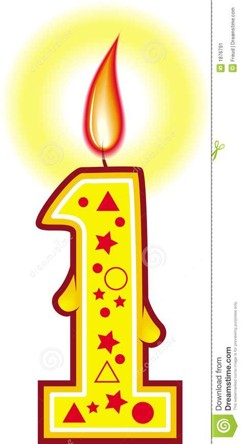 immagini candele compleanno candela 1 di compleanno immagine stock immagine 1876791
