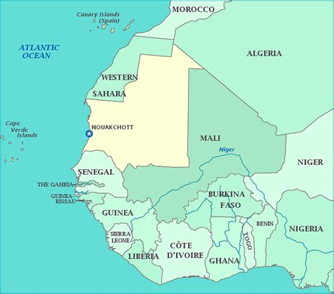 yourchildlearns africa map htm map of mauritania