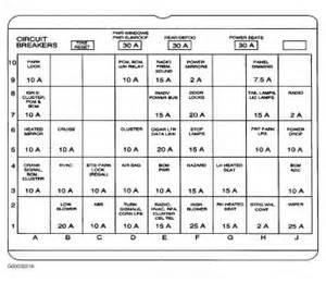 2000 Buick Century Fuse Diagram 2001 Buick Century Fuse Panel Diagram Electrical Problem