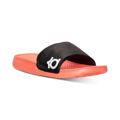 nike sandals nike mens solarsoft kd slide sandals from finish line in