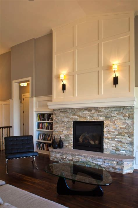 fireplace stonework molding above mantel i this i