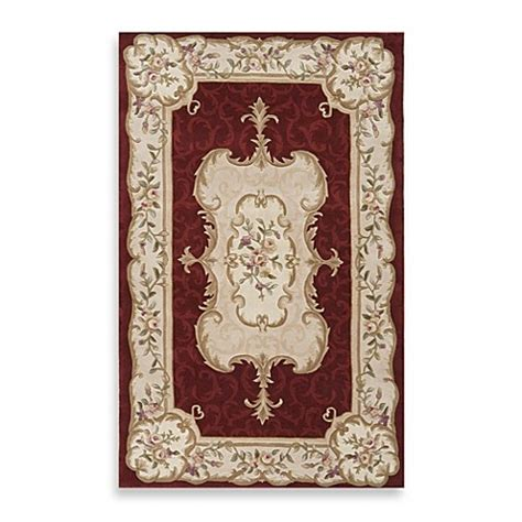 renaissance rugs rugs america renaissance rug in gold burgundy bed bath beyond