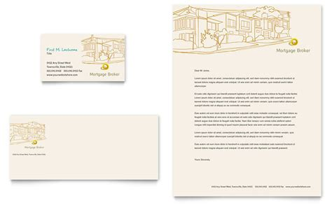 business card and letterhead design templates mortgage broker business card letterhead template word