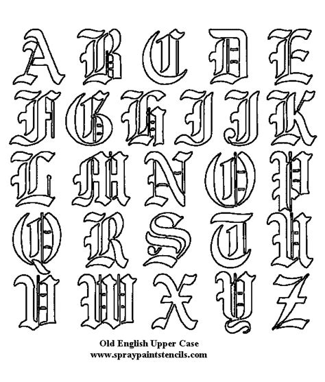 tattoo fonts english types fonts on back