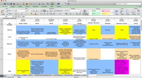 Planning Trips Is A Pain In The Ass Travel Plan Template Excel