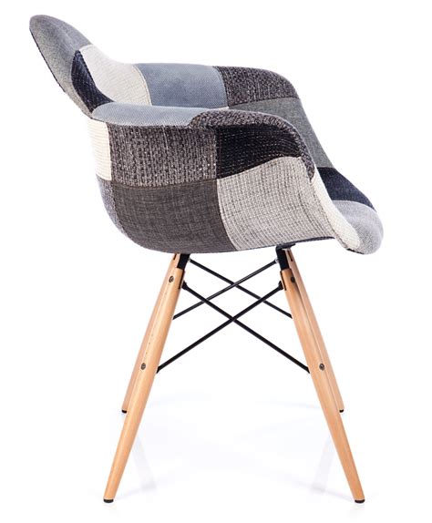 Patchwork Style - chaise patchwork xl style gris meubles design chaises