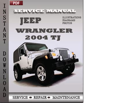 service repair manual free download 2004 jeep wrangler instrument cluster jeep wrangler 2004 tj factory service repair manual download down